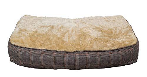 Colchoneta para perros XL extra gruesa, de efecto tweed, 100x70 cm, cama para perros lavable