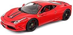 Idea Regalo - Bburago 18-16903 - Ferrari 458 Speciale Modellino, Scala 1:18