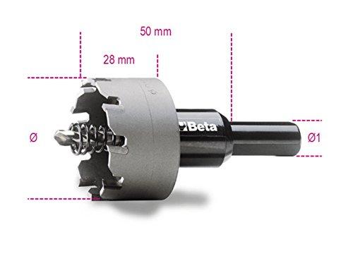 Beta 452 28 Scie-cloche avec inserts en métal dur, 28 mm de diamètre