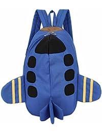 mochilas escolares juveniles, Sannysis mochilas viaje, patrón de plano 3d impresiones (azul)