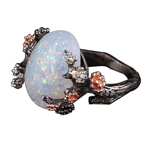 (Ausverkauf. Frauen Mädchen 2018Fashion Band Ringe Statement Jewelry Mingfa Vintage Blume Opal Hochzeit Verlobungsring Braut Ringe, Legierung, Mehrfarbig, 5)