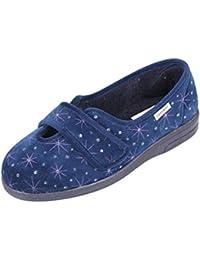 52794b1d4 Sandpiper Women's Slipper 'Sadie' | Starbust Design | Extra Wide Fit 4E-6E