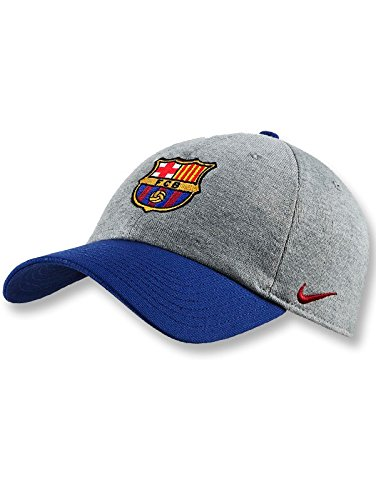 Nike Erwachsene FC Barcelona H86 Kappe, Dark Grey Heather/Noble Red, One Size