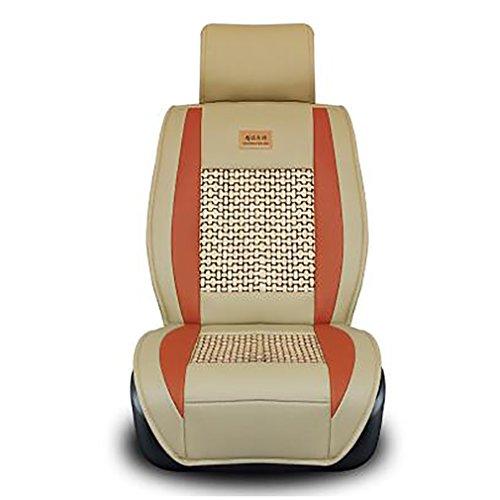 Car Cushion Pad Fit Für Die Meisten Autos Einzigen Sommer Kühlen Sitzkissen Four Seasons General Umgeben Auto Sitzbezug,Blackbeige (Die Hälfte Sitzkissen)