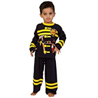 Cool Fireman Fancy Dress Cotton Long Pyjamas 2 3 4 5 6 Years sam