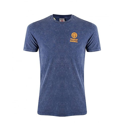 Franklin-Marshall-TSMF50-Crew-Neck-Logo-T-shirt
