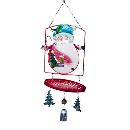 Weihnachtsglocken Anhänger Windspiel Weihnachtsschmuck Tür hängen Dekor Urlaubs und Alltagsdekorationsprodukte Baby Geschenk Blue -