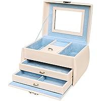 SONGMICS Caja para Joyas Joyero de 3 Niveles Organizador Multiusos 24 x 16,5 x 16,5 cm JBC140F