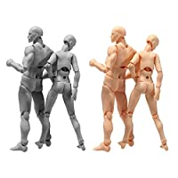 Action Figure Drawing Models,Man & Women Drawing Mannequin Body Kun Doll Body-Chan Male/Female Action Figure DX Set with Accessories Kit, Suitable for Artist, Painting, Drawing