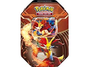 Pokebox goupelin - carte francaise a collectionner pokemon - boite metal rouge