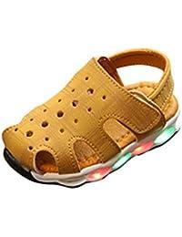 K-youth® Sandalias Bebe Niña Verano Zapatos Bebe Niñas LED Luz Luminosas Flash Zapatos Zapatillas de Deporte Zapatos de Bebé Antideslizante Botas Niña Zapatos