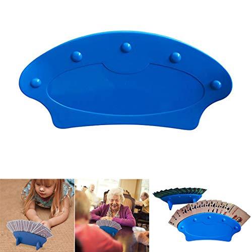 Perfektes Geschenk für faulen Mann !!! Beisoug 4PC / 2PC Imperial Home Game Night Spielkartenhalter - Stehende Plastikkartenhalter (Blau)