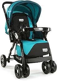 LuvLap Galaxy Stroller/Pram, Extra Large Seating Space, Easy Fold, for Newborn Baby/Kids, 0-3 Years (Green/Bla