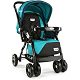 LuvLap Galaxy Stroller/Pram, Extra Large Seating Space, Easy Fold, for Newborn Baby/Kids, 0-3 Years (Green/Black)