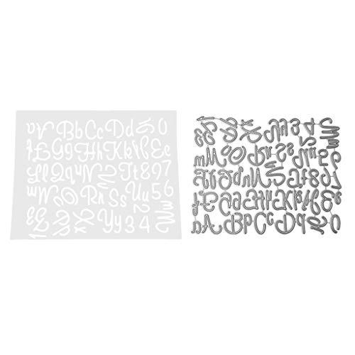 BINGHONG3 BingongongG3 Buchstaben Alphabet Digital Metall Stanzschablone DIY Scrapbooking Album Stempel Papier Karte Prägung Basteln Dekoration -