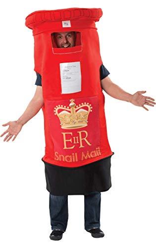 Britische Kostüm - Britischer Briefkasten Kostüm für Erwachsene
