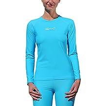 iQ-Company Damen UV Kleidung 300 Shirt Loose Fit Long Sleeve, Turquoise, XXL, 6701222518-46XXL