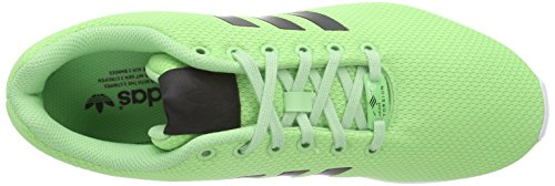 adidas Zx Flux, Scarpe da Ginnastica Unisex – Adulto Verde (Super Green F15/Core Black/Ftwr White)