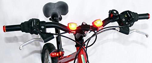 CYCLESEKUR : Lumiere Velo, Lampe Velo Avant Et Arrière, Feux Clignotants de Direction, Paire Lampes Poignée...