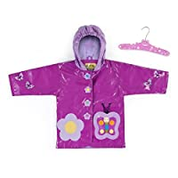 Kidorable Kids Butterfly Hooded Raincoat (Small/Medium 92/98cm)