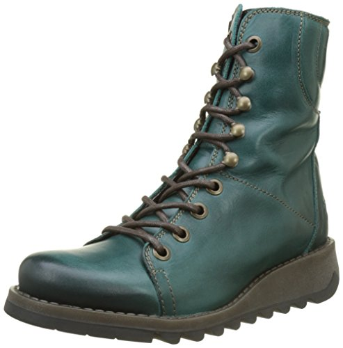 Fly London Women's SAME109FLY Boots, Green (Petrol), 5 UK 38 EU