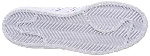 outlet store e1146 ccaeb adidas Superstar J, Sneaker Unisex-Bambini, Bianco Ftwr White Metallic  Silver-SLD, 35.5 EU. Visualizza le immagini