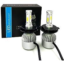 Kit de conversión de bombillas LED para Faros de coche, Bombillo de 9004 9007 H4 H11 H7 6500K 4000lm Lámpara de LED de haz doble bajo y alto 60W H/L ...