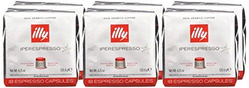 comprare on line illy Caffè Iperespresso, Caffè Espresso In Capsule, Tostatura Media - 6 confezioni da 18 capsule  (totale 108 capsule) prezzo
