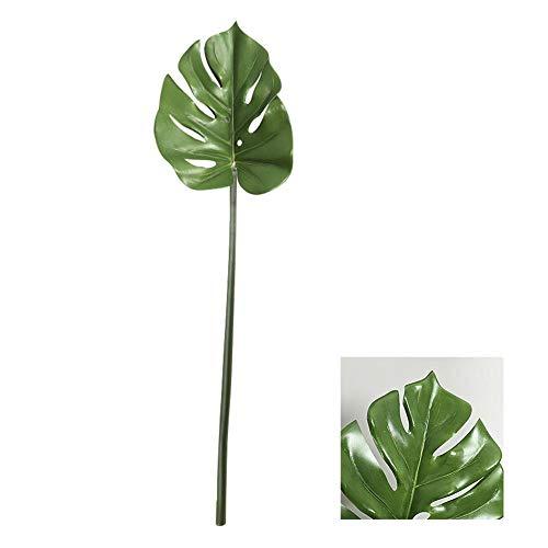(Biback Tropische Blätter, 2 stücke Große Simulations-künstliche Betriebsgrün Monstera Blatt-Blumen-Anordnung für Hochzeits-Ausgangsdekoration)