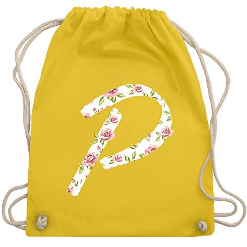 Anfangsbuchstaben - P Rosen - Unisize - Gelb - WM110 - Turnbeutel & Gym Bag - Alphabet Olive