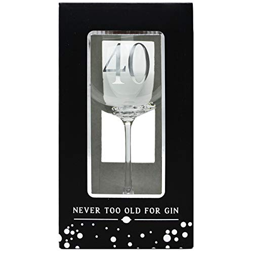 40th Birthday Large Glass Gin Goblet In Gift Box G&T Ideas Birthdays Gifts
