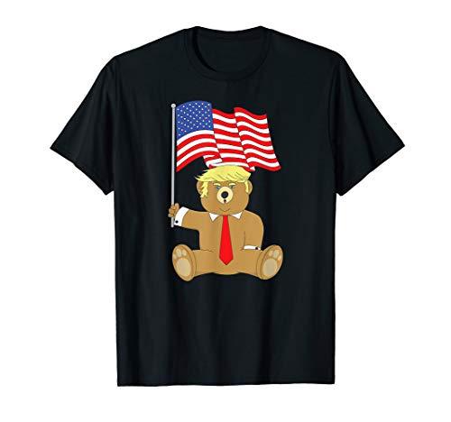 Trump Bear USA Patriot 4. Juli Maga Flagge Lustiges Geschenk T-Shirt (Vierter Niedlich, Juli T-shirts)