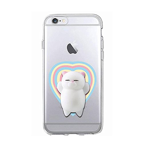 Squishy 3D Animal Tiere Cat Katze iPhone SE Case Hülle handyhülle, Cute Stress Silikon [2017] Spaß Hülle für iPhone 5s / iPhone 5 / iPhone SE (Color-H) Color-D