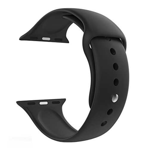 Jump Start Sport Band Compatible for Apple Watch 38mm, Soft Silicone Sport Strap Bands Compatible for iWatch Apple Watch Series 3, Series 2, Series 1