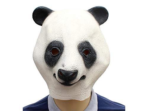 Yter cute lattice panda maschera divertente maschera in lattice della testa  per Halloween in maschera ( 092f17352fbf