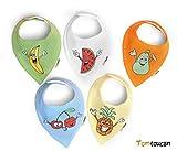 Tomtoucan Bavaglino neonato – Confezione da 5 (Crazy Fruits)