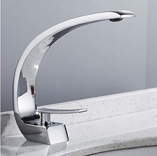 FUJUNJIE Badewanne Wasserhahn Messing Chrom Wasserhahn Pinsel Nickel waschbecken Wasserhahn waschbecken warmes und kaltes Wasser Bad Wasserhahn (Nickel Badewanne Wasserhahn Pinsel)