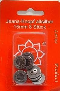 Jeans-Knopf altsilber 15mm