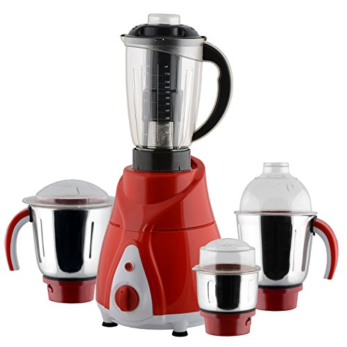 Anjalimix Juicer Mixer Grinder Spectra 750 Watts With 4 Jars (red & White), Dry, Wet, Chutney, Filter Juicer