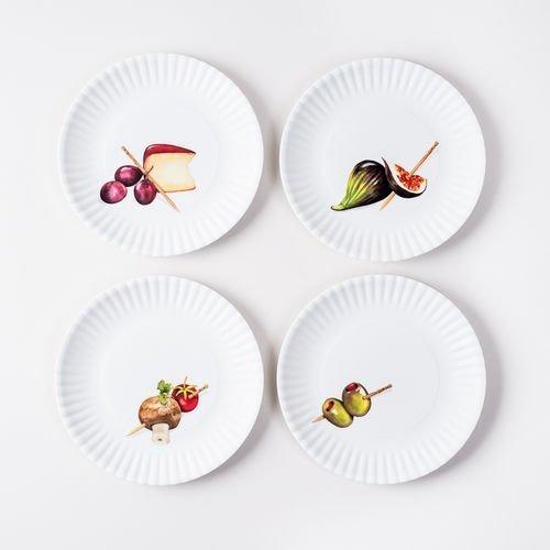 Melamine Hors D'Oeuvre Plates set of 4 by One Hundred 80 Degrees Hors Doeuvre-set