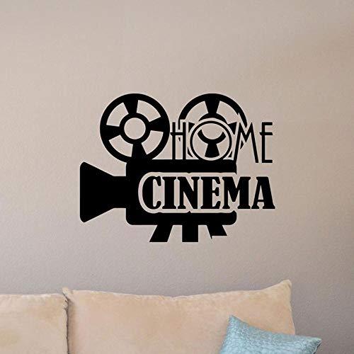 yiyiyaya Heimkino Wandtattoo Film Filmplakat Theater Zeichen Zitat Vinyl Aufkleber Video Studio Decor Film Streifen RemovableCM 53x70cm