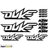 SUPERSTICKI 690 Duke Aufkleber A1 Sponsorset 4668 ca. 30x20cm Aufkleber Bike Auto Racing Tuning aus Hochleistungsfolie Aufkleber Autoaufkleber Tuningaufkleber Hochleistungsfolie für al