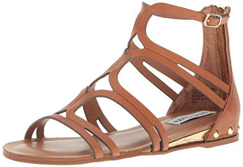Steve Madden Women's Delta Gladiator Sandal, Tan Leather, 7.5 M US (Steve Madden Gladiator)
