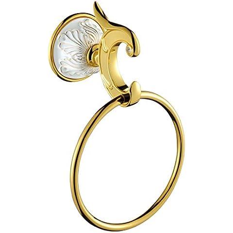 Accessori bagno anello di tovagliolo placcata oro