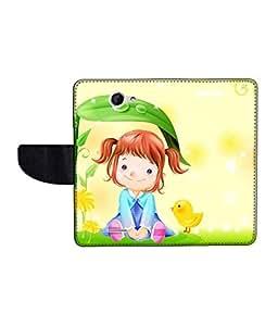 KolorEdge Printed Flip Cover For HTC Desire 516 Multicolor - (50KeMLogo09797HTC516)