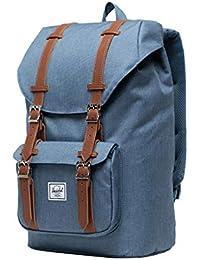 Herschel Little America Sac à dos pour ordinateur portable, bleu Mirage Crosshatch, volume moyen 17,0 l