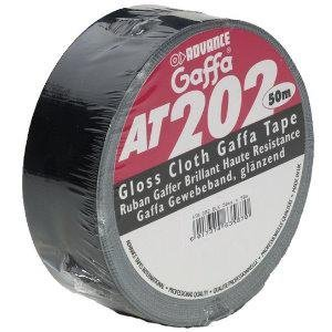 Advance Tapes 5807BLK AT 202 Gaffa Klebeband 50mm x 50m schwarz