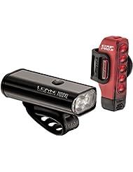 Lezyne Macro Drive 1100XL / Strip Pro Pair Luz Led Delantera y Trasera, Rojo/Negro, Talla Única