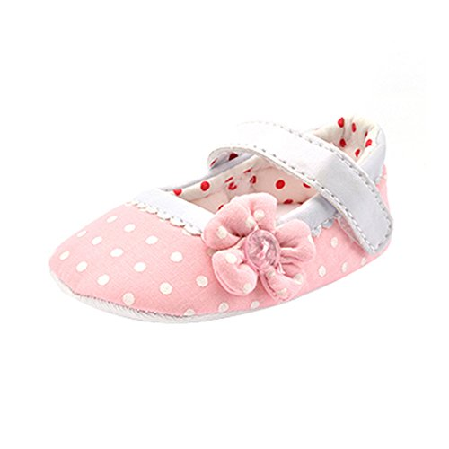 Hunpta Baby Girl Canvas Schuhe Sneaker rutschfest weiche Sohle Schuhe (Alter: 0 ~ 6 Monate, Rosa) Rosa