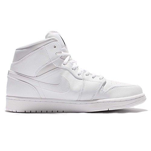 Nike Air Jordan 1 Retro Haute Og, Scarpe Sportive Uomo Blanc / Blanc / Noir